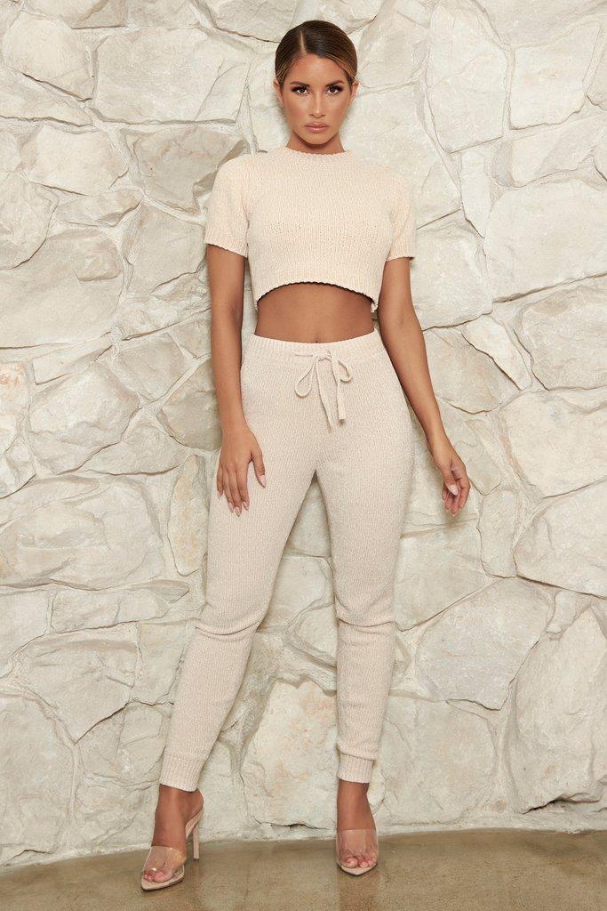 Aisha Chenille Leggings - Cream