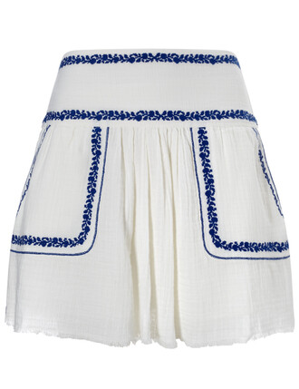 skirt embroidered white cotton