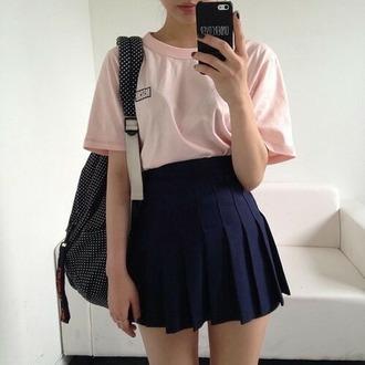 skirt grunge grunge skirt tennis skirt blue skirt