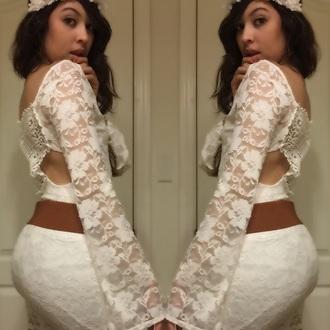 lace dress boho hippy dress flower crown mini dress pretty dress hot lacey dress sexy dress dress belt flare