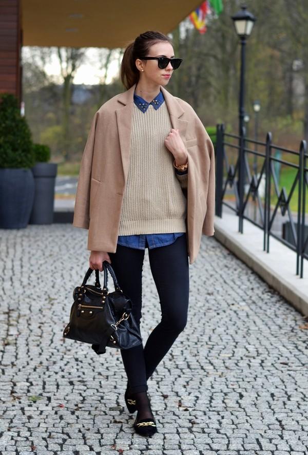 vogue haus blouse sweater coat jeans shoes bag jewels sunglasses