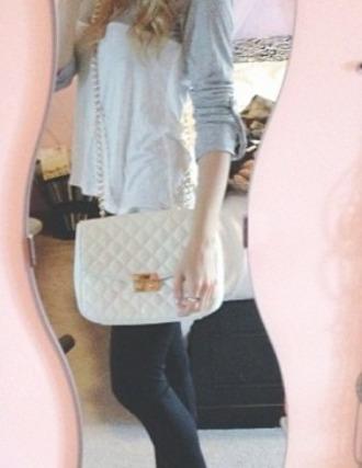 bag purse white purse in love