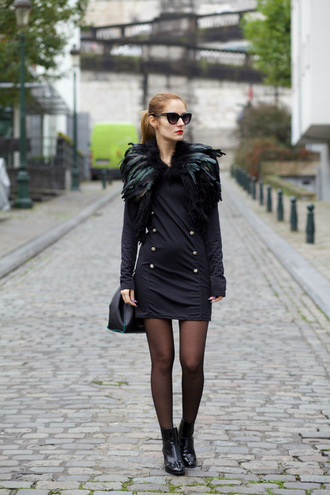 from brussels with love blogger coat dress bag shoes