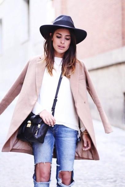 coat streetwear winter coat style hat