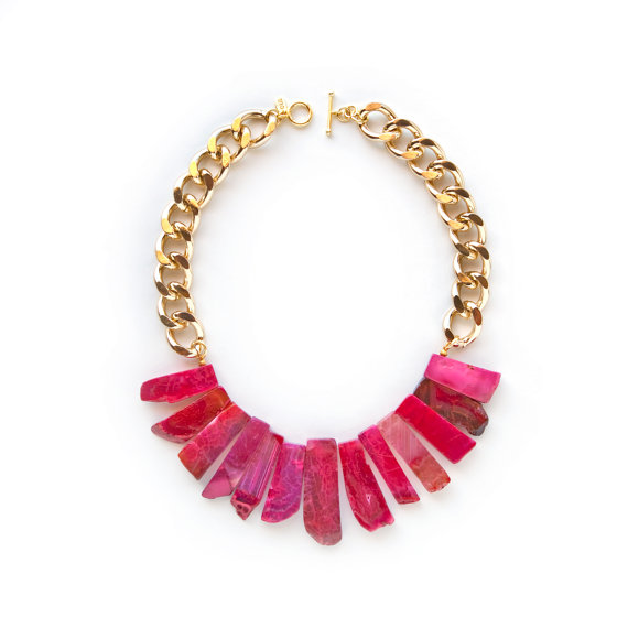 The Mai Tai  Daiquiri  Agate Statement Necklace by oiajules