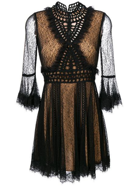 Jonathan Simkhai dress lace dress sheer women spandex scalloped lace black