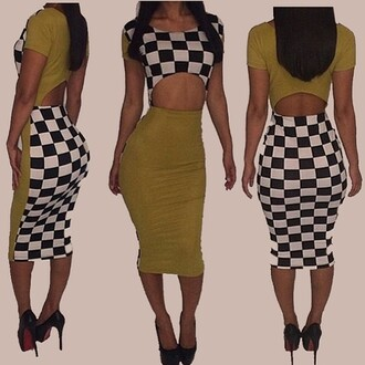 checkers dress olive bodycon dress beyoncé