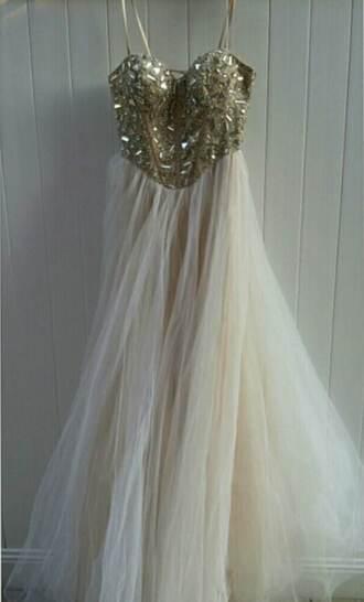 dress long chiffon maxi beaded corset strapless prom dress gold beaded prom dress