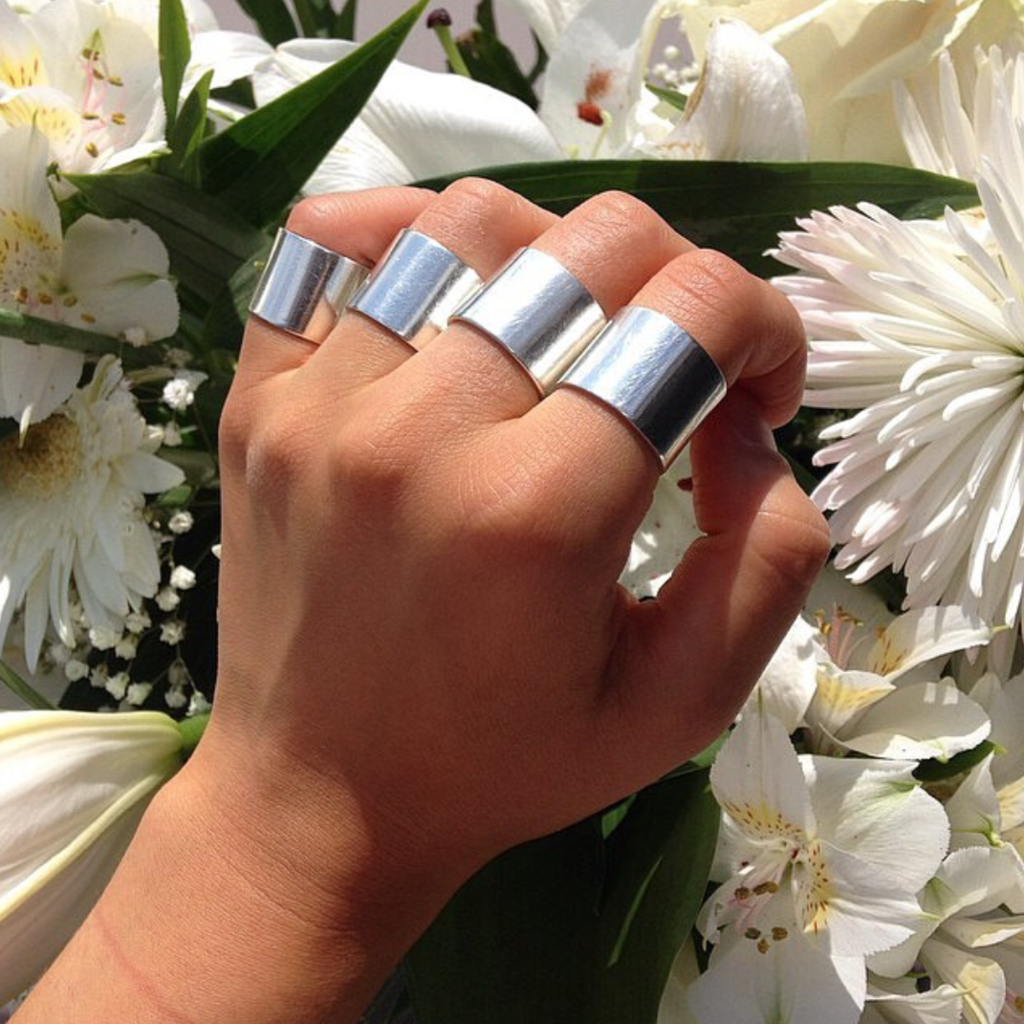 Knuckle duster silver rings
