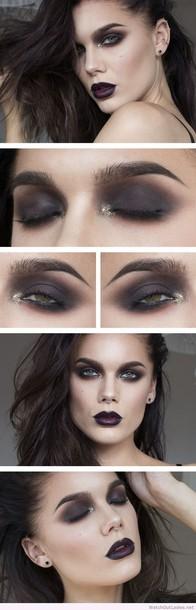 make-up linda hallberg dark makeup golden glitter