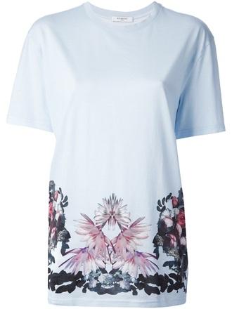 t-shirt floral print t-shirt givenchy floral