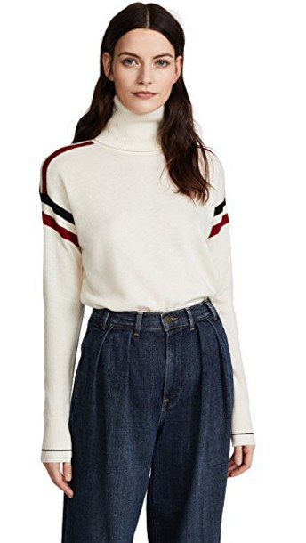 Veronica Beard turtleneck black red sweater