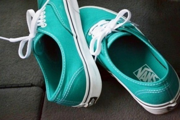 shoes vans vans authentic bittersweet colours white aqua blue