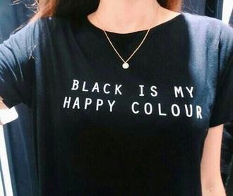 shirt black t-shirt black top