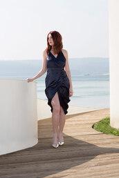 dress,satin,silky,shne,summer,dark blue,trendy,summer dress,prom dress,hollywood