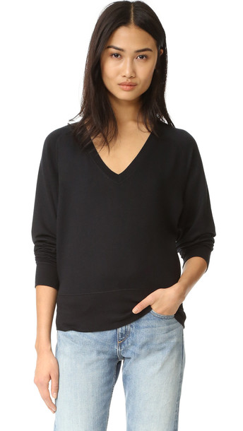 Rag & Bone/Jean Cozy Pullover - Black
