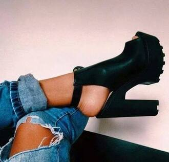 shoes black shoes leather shoes high heels high ankle boots black high heels