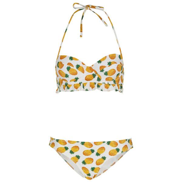 TOPSHOP White Pineapple Bikini - Polyvore