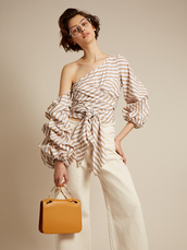blouse,Matchesfashion,summer,spring outfits,purse,stripes,nude,shoes,bag,sunglasses,jeans