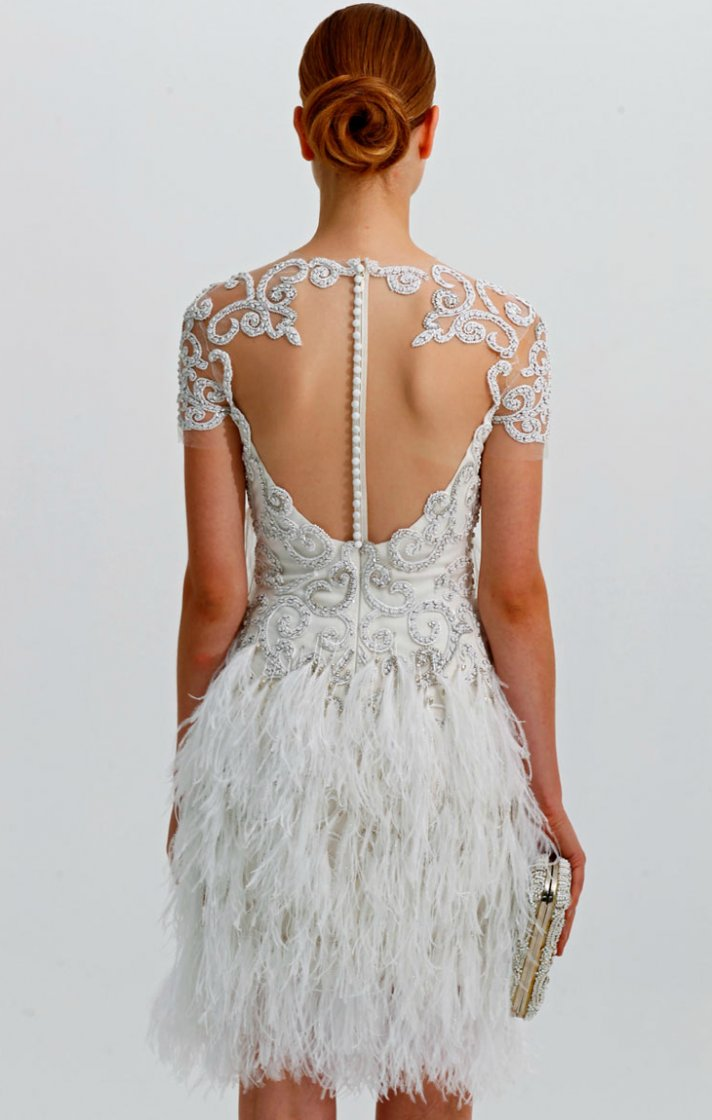 Stunning Statement Backs for 2012 Brides | OneWed