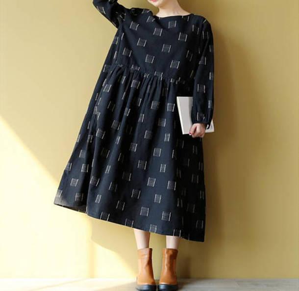 dress linen long dress