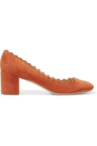 suede pumps scalloped pumps suede shoes