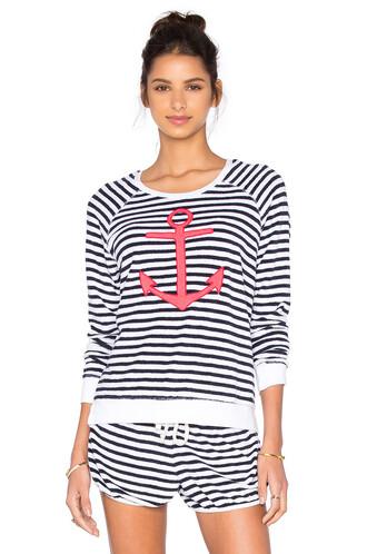 sweatshirt anchor white black