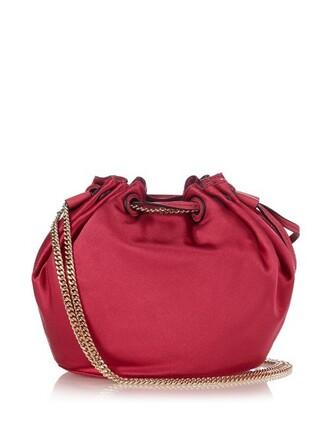 mini love bag bucket bag pink
