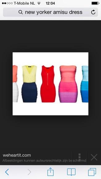 cute dress colourful new yorker 2013 amisu