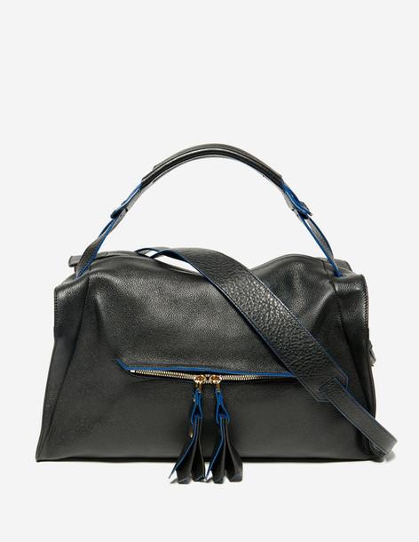bag purse sandro black bag leather bag fall outfits