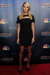 dress,little black dress,heidi klum,shoes