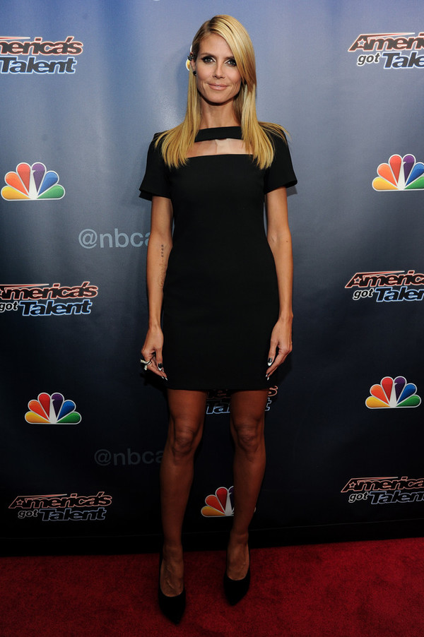 dress little black dress heidi klum shoes