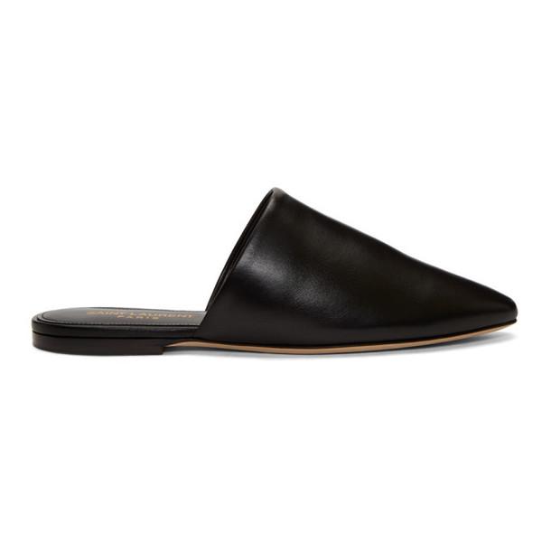 Saint Laurent Black Bliss Slippers