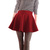 Ladies Red Elastic Waist Casual Shirred Mini Winter Skirt XS