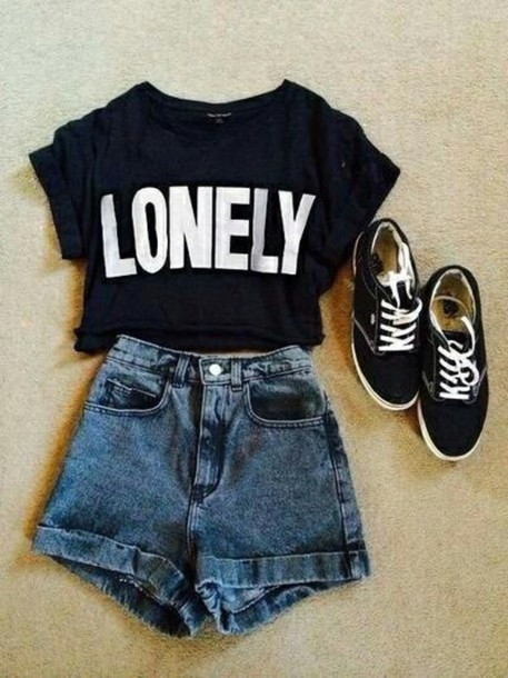 shirt lonely top shorts