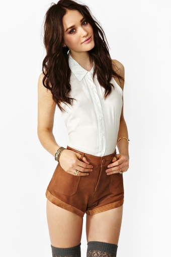Sailors leather shorts  in  clothes at nasty gal