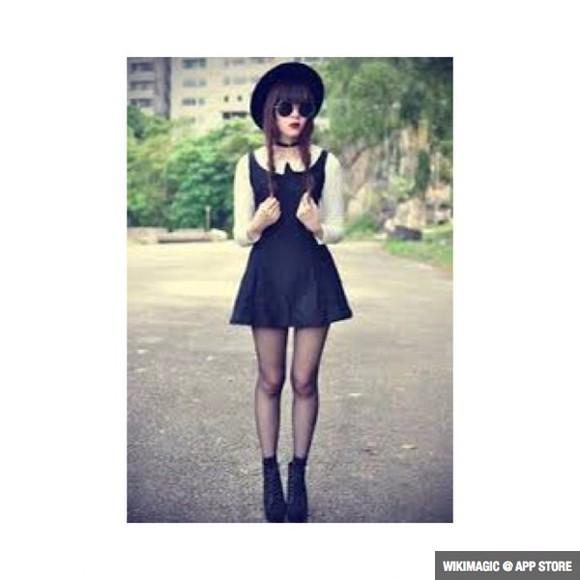 hat black grunge cute