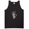 Ok hand adult tank top - basic tees shop