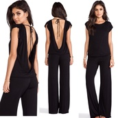 romper,dress,black,outfit,summer outfits,simple and sexy,open back,indah clothing