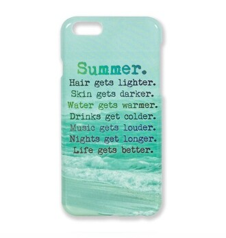 phone cover blue quote on it turquise summer summer accessories quote on it phone case