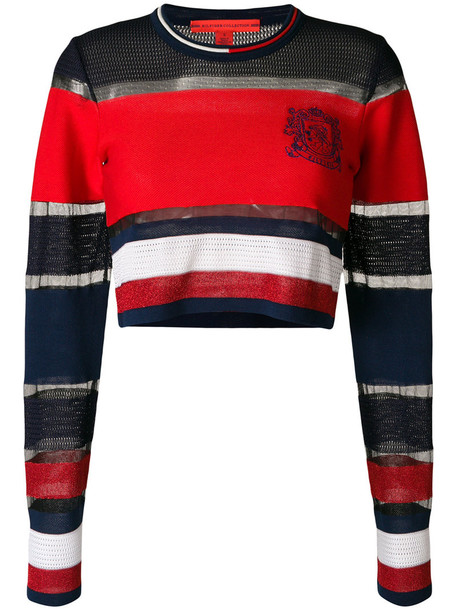 Hilfiger Collection jumper cropped jumper cropped women cotton red sweater