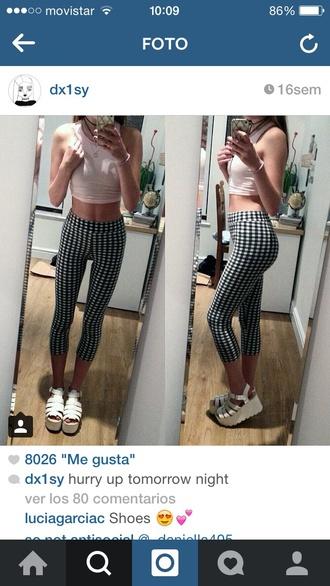 pants grunge pale cool black white need