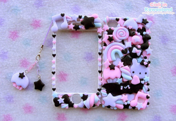 jewels phone cover samsung galaxy s2 handy sweet sweets cupcakes stars rainbow mobile phone phone cover