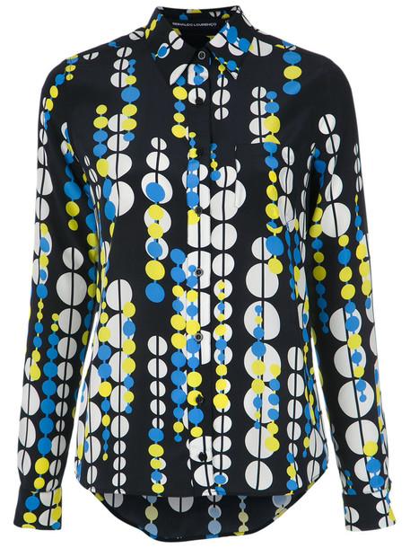Reinaldo Lourenço - printed silk shirt - women - Silk - 40, Silk
