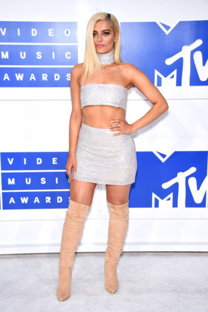 Skirt Silver Top Vma Mini Skirt Bebe Rexha Silver