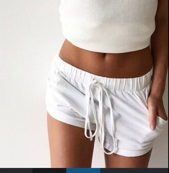 shorts white white shorts lose cute tumblr summer summer shorts beach athletic joggers wow summer outfits how cute is this super tumblr amazing