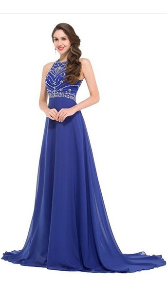 dress blue dress women long dress