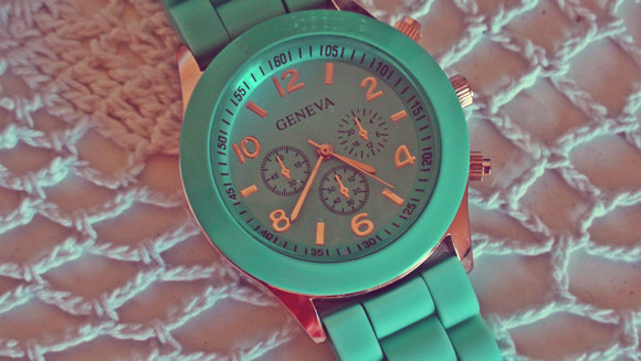 jewels bracelet cute fashion turquoise blue arm candy watch girly
