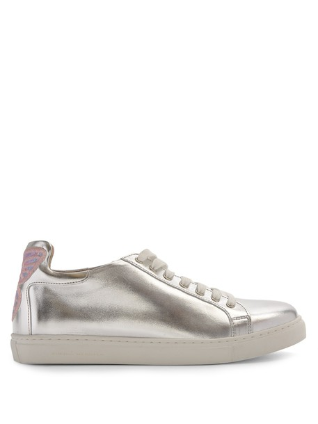 top leather silver