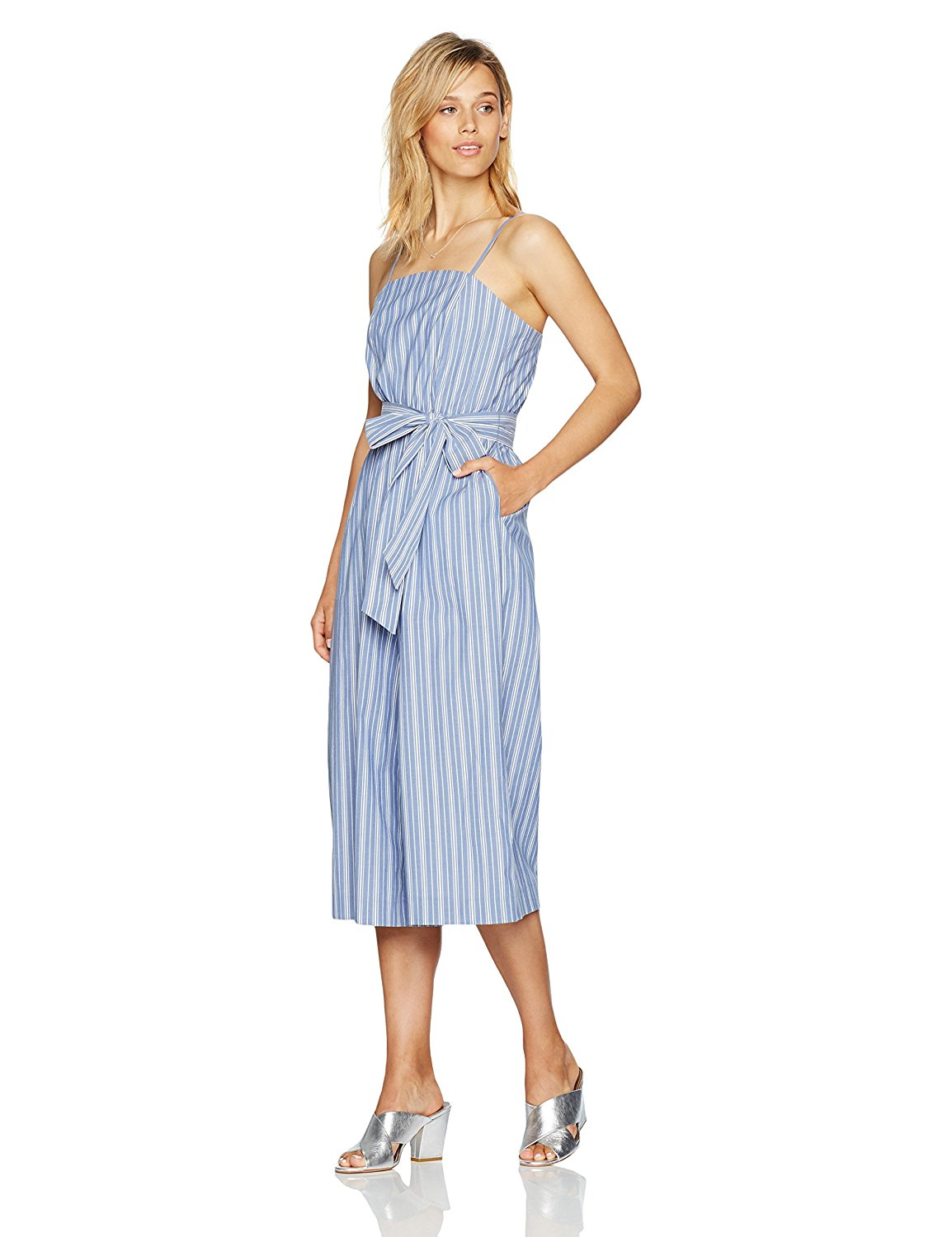 9bb7be4da106 Amazon.com: PARIS SUNDAY Women's Jumpsuit with Tie Detail ...
